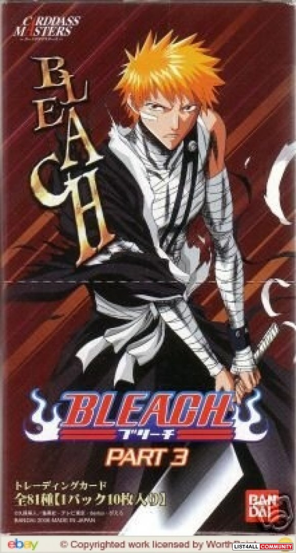 Anime Bleach Carddass Masters Part 3 Sealed Foil Pack of Cards