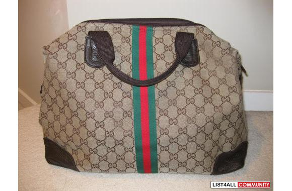Brand New Replica Gucci Bag With Red And Green Stripes