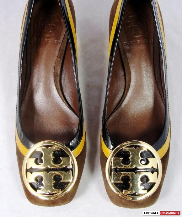 Authentic Tory Burch Frannie Brown Suede Heels