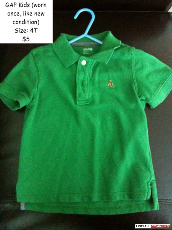 GAP Kids polo for boys - Like new - Size 4T