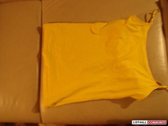 yellow tank top for forever 21 -elastic on the inside
