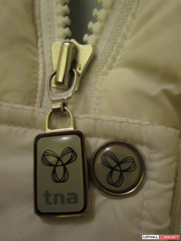 TNA - White vest jacket