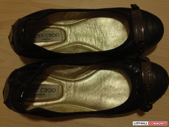 Authentic Jimmy Choo Wigmore Ballerina Flats