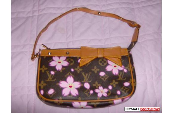 Brown with Pink Flowers Louis Vuitton Purse - 580 x 380  26kb  jpg