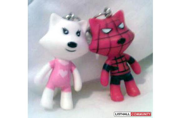 Romantic Pair of Wolves (Keychains): Spiderman + Robot Girl??