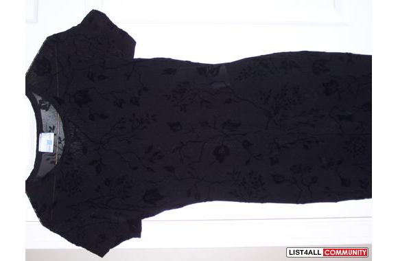 Black dress worn ONCE only! Purchased in London, 2 pce
