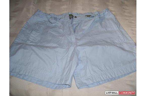 Blue shorts will fit a size S-M worn once only