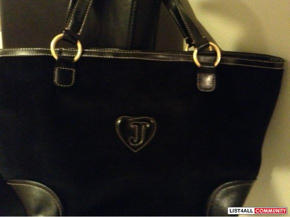 Authentic JUICY COUTURE VELOUR BLACK PAMMY TOTE
