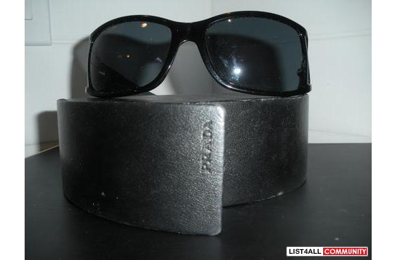PRADA SUNGLASSES AUTHENTIC BLACK WITH CUT OUT SIDES