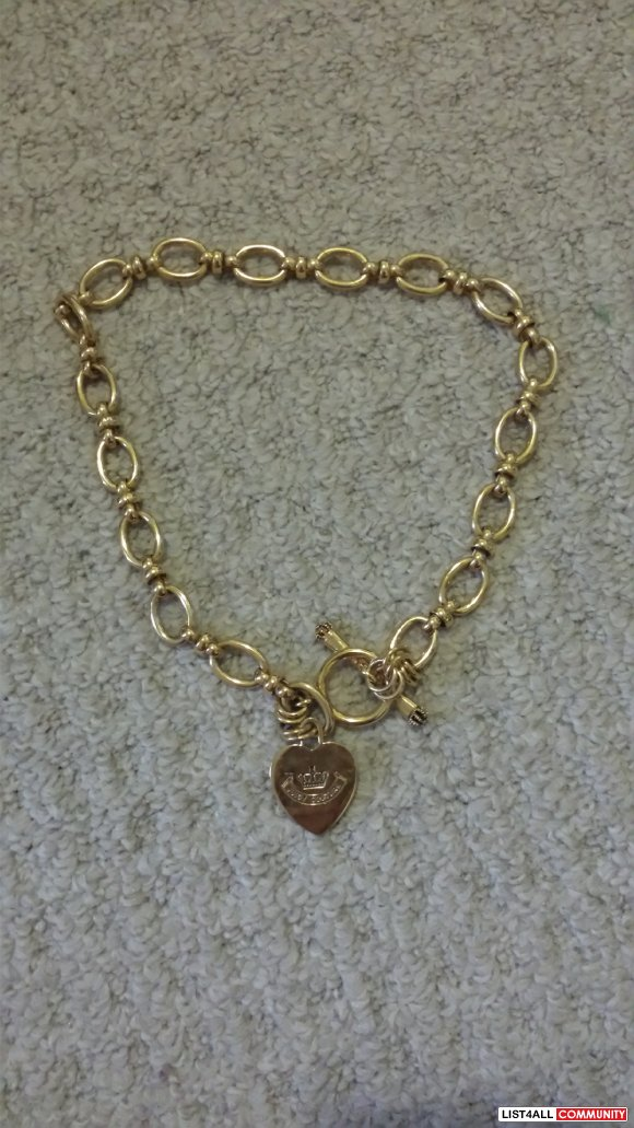 Juicy Couture starter charm link necklace