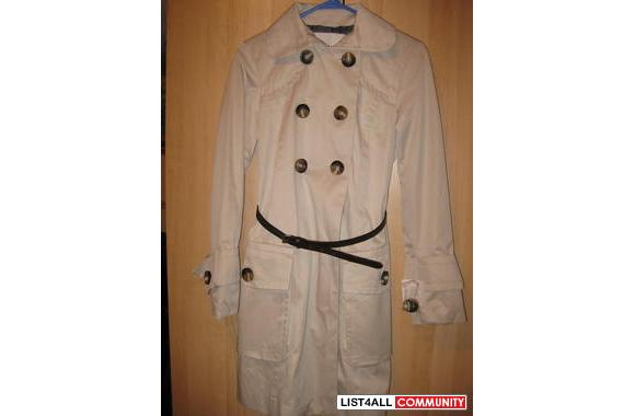 GEORGEOUS NEVER WORN TAGS STILL ON ZARA TAN SHORT TRENCH JACKET