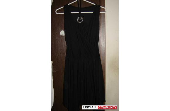 simple black dress w/ halter
