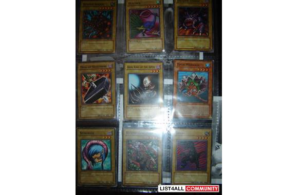 yugioh cards (authentic)