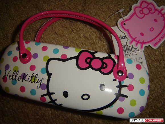 hello kitty glasses case purse CLAIRES