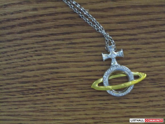 long saturn necklace