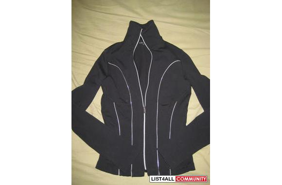 black bebe sport stretchy zip up sweater good condition size xs