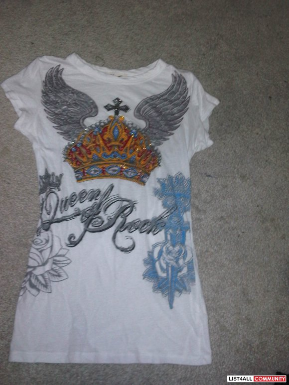 rhinestone tee- NOW $10