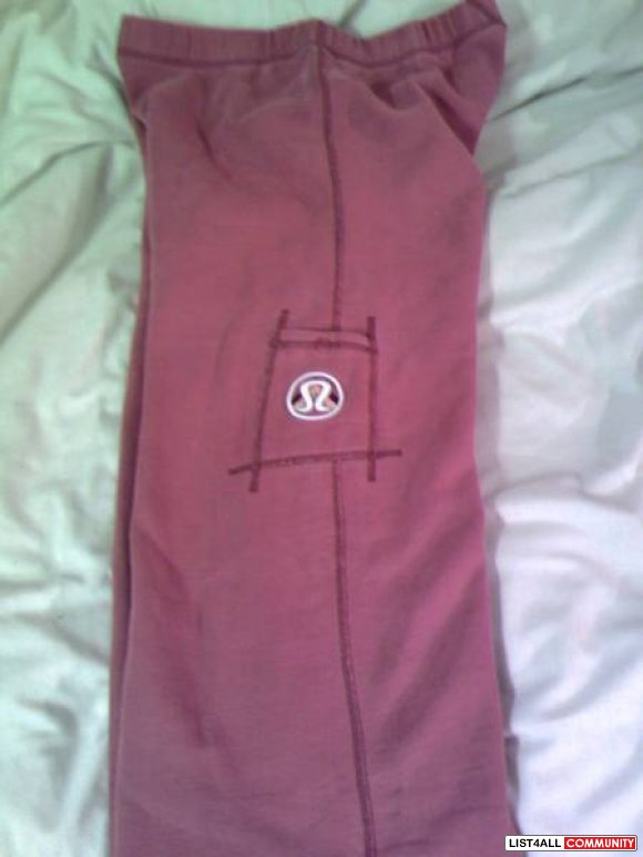 "LULULEMON Red Sweatpants, Size 8 (hemmed to 30"" inseam) -- $30 OBO"