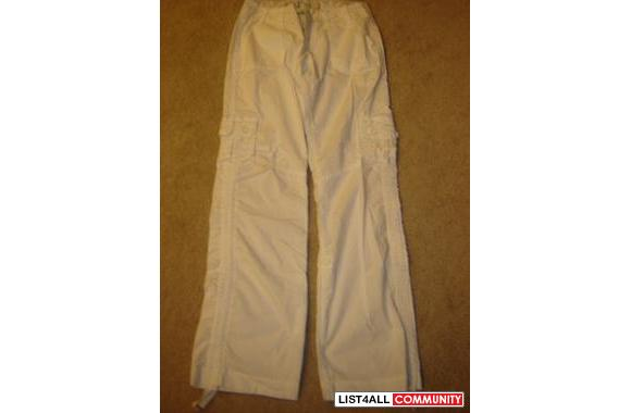SONG & OLD NAVY black/beige/olive/white CARGO PANTS SIZE S or XS