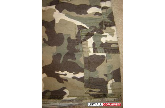 SONG army print military CAMO SKIRT SIZE 26
