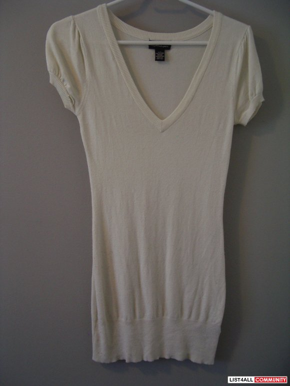 SIRENS cream/black TUNIC SWEATER TOPS SIZE S can fit XS
