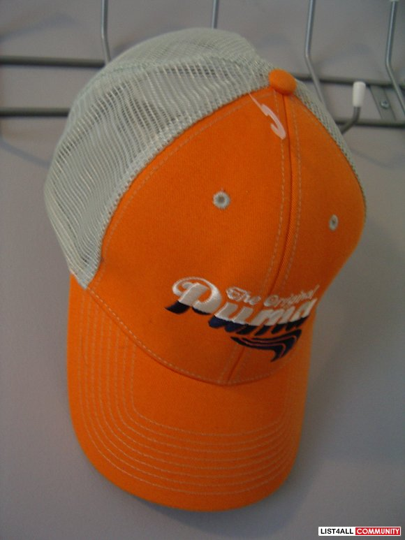 PUMA orange & gray TRUCKER HAT
