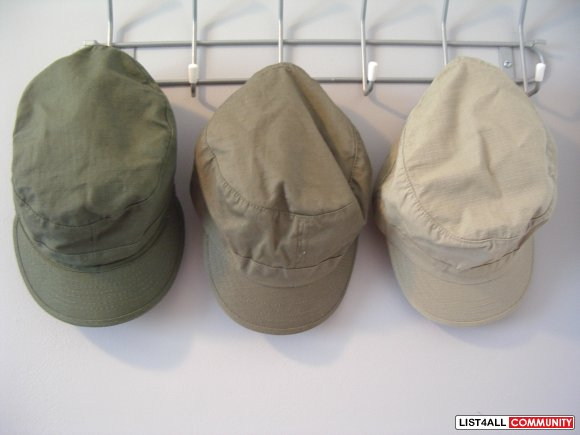 olive green & beige HATS