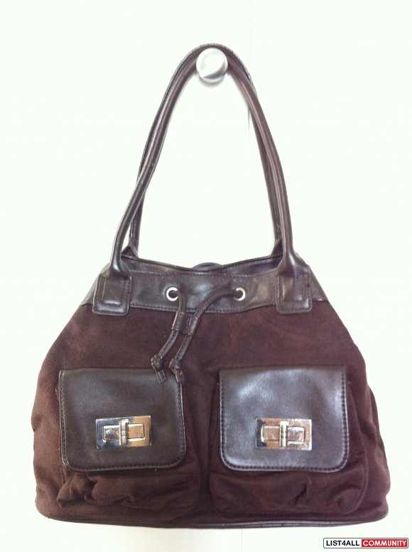 NINE WEST dark brown handbag purse