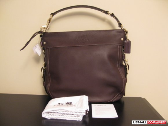Coach Leather Large Zoe - NWT
