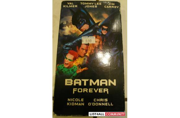 batman forever video tape