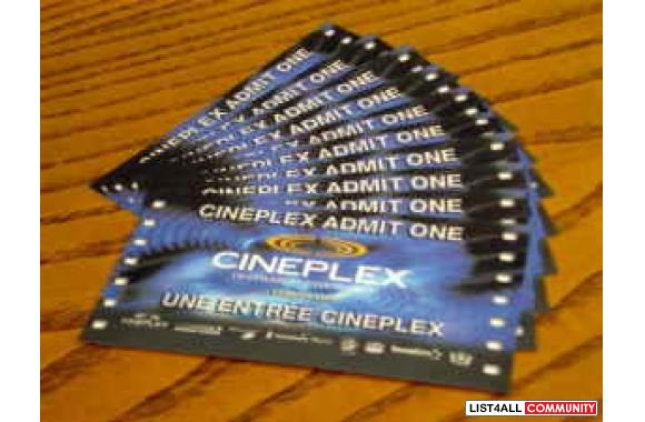 Cineplex Famous Players Movie Admin One General Admission Tickets