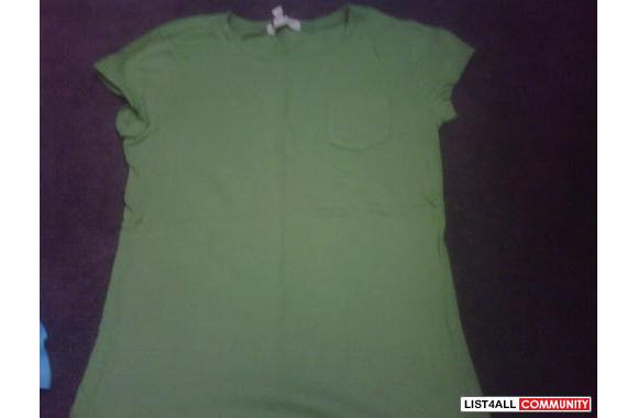 green pocket tee: size s, bought at aeropostale