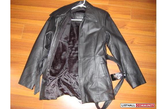 Oscar insulted leather winter jacket, size M, very warm