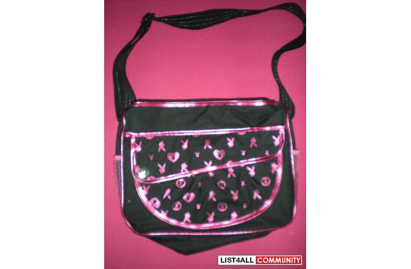 Pink and black Playboy shoulder bag