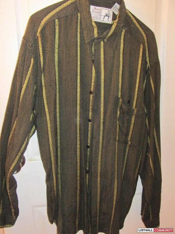 NINO FERIERO by RANDY RIVER LARGE DRESS SHIRT LONGSLEEVE Made in India