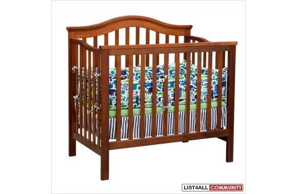 dark wood 3 in one crib millenium dellta crib  with out mattress