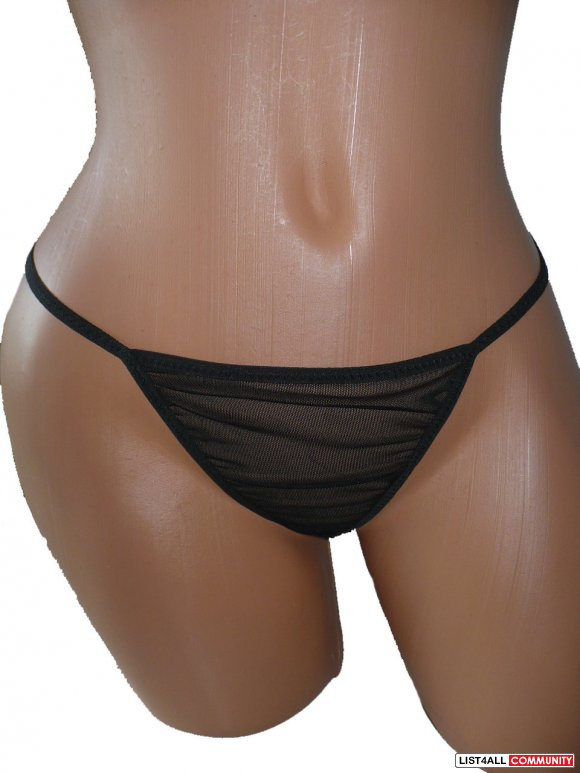 Sheer Mesh G-string black S, M, XL