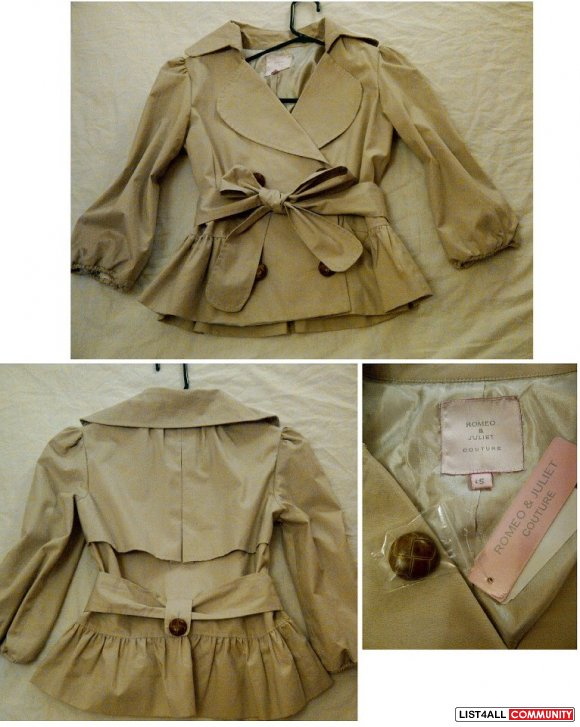 BNWT Princess Jacket by Romeo & Juliet Couture (New York)