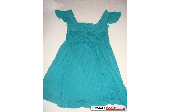 green/turquoise babydoll top