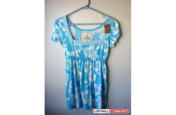 NWT Hollister Floral Tunic M