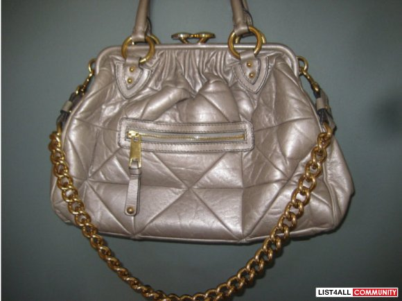 Authentic Marc Jacobs Metallic Patchwork Stam