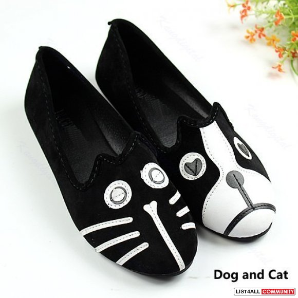 Loafers dog & cat pair, flats, size 6