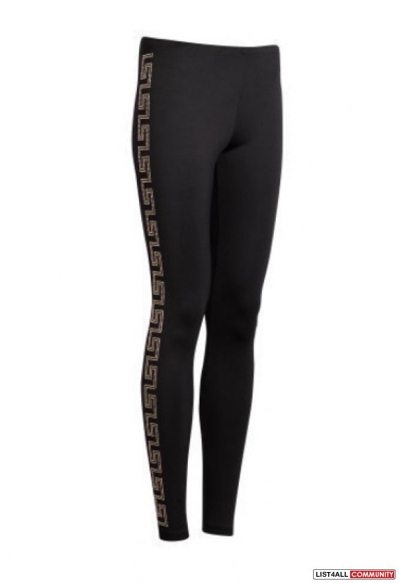 Sold H Amp M Versace Black Legging With Studs Size 6