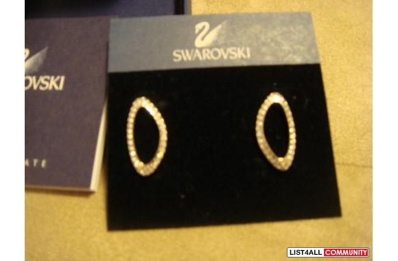 Swarovski Earrings - authentic and new!