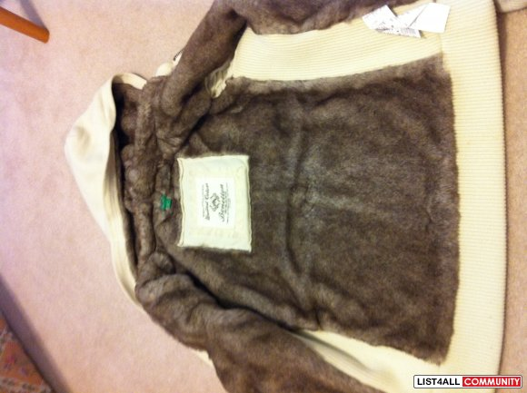 United Colors of Benetton fur zip-up hoodie