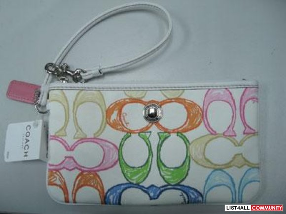 Coach Hamptons Weekend Wristlet/Clutch