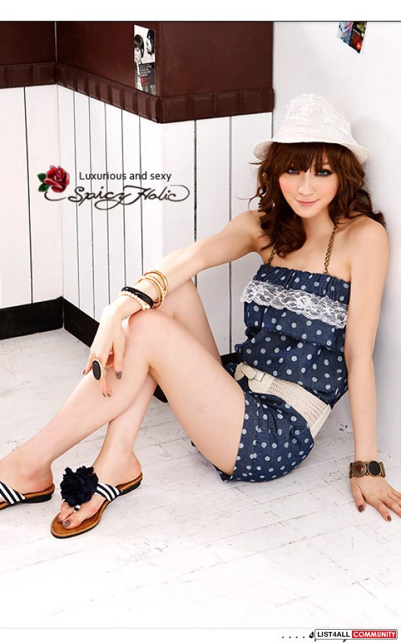 Japanese Polka Dotted Romper
