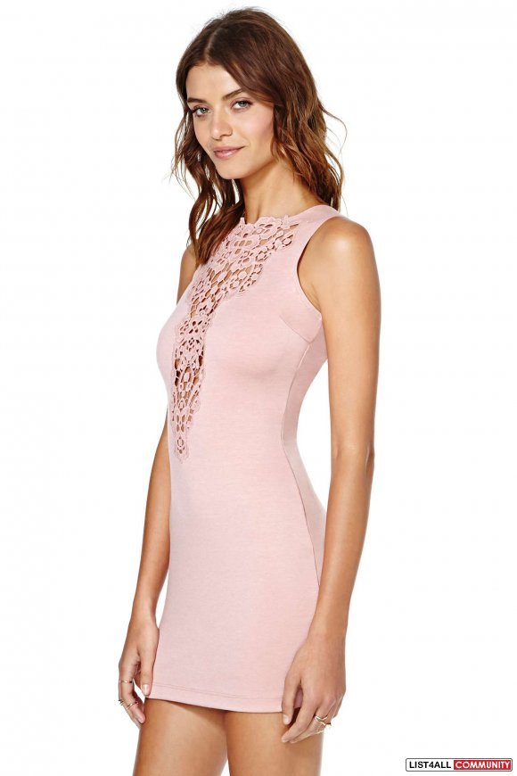 Nastygal nasty gal dress the population lace crochet urban outfitters