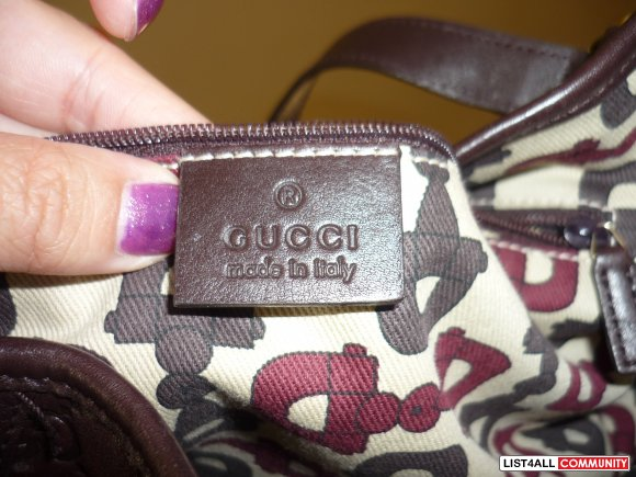 Authentic Guccissima Abbey Bag