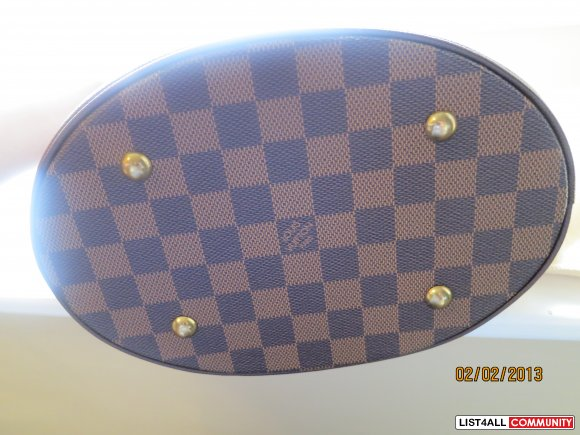 Authentic Louis Vuitton Bag Marais Bucket Damier Ebene Bag